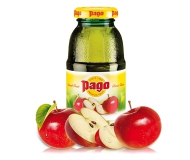 Pago Apfel 100% Fruchtsaft 0,2 l Flasche