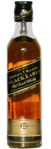 Johnnie Walker black Label 12 Y.  Whisky 0,35 l